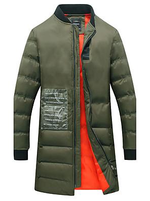 Men's Regular Padded CoatCotton / Polyester Solid Long Sleeve