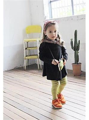 Girl's Casual/Daily Striped LeggingsCotton Winter Brown