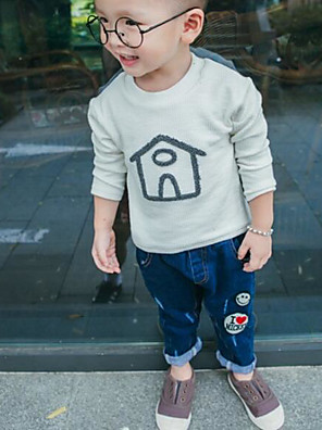 Boy's Casual/Daily Solid TeeCotton Spring / Fall Blue / Pink / White
