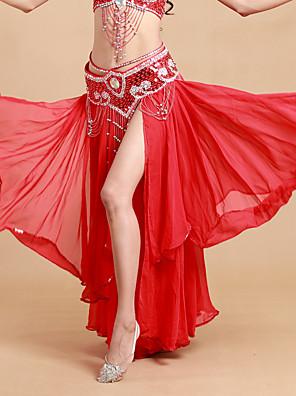 ריקוד בטן חצאיות טוטו וחצאיות בגדי ריקוד נשים ביצועים ספנדקס / פוליאסטר שכבות מדורגות חלק 1 טבעי חצאית 93cm