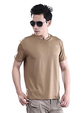 Corrida Camiseta Homens Manga Curta Respirável / Secagem Rápida / Confortável ElastanoPesca / Exercicio e Fitness / Golfe / Ciclismo/Moto