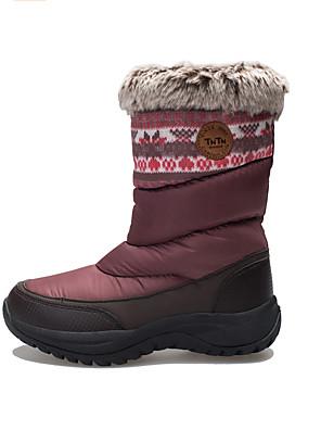 מגפיים עד אמצע השוק-לנשים-ספורט שלג(אפור / בורדו)
