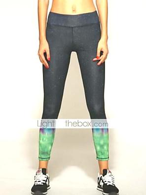 מכנסיים יוגה תחתיות / מכנסיים / טייץ רכיבה על אופניים / חותלות נושם / ייבוש מהיר / wicking / דחיסה / חומרים קלים טבעי גמישות גבוההבגדי