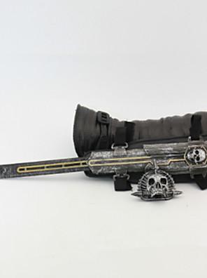 Våben / Sværd Inspireret af Assassin's Creed Cosplay Anime Cosplay Tilbehør Våben Sort Legering / PU Læder / PVC Mand