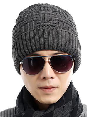 כובע צמר גברים וינטאג' / עבודה / יום יומי,סריגה קיץ / חורף