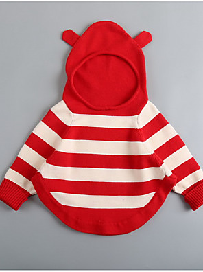 Girl Going out / Casual/Daily / Sports Striped Blouse,Polyester Winter Long Sleeve Regular