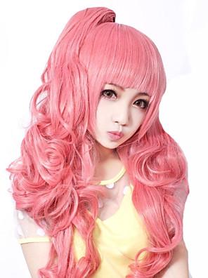 Lolita Wigs Sweet Lolita Lolita Střední / Kudrny Růžová Lolita Paruky 55 CM Cosplay Paruky Jednobarevné Paruka Pro Dámské