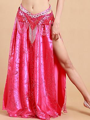ריקוד בטן חצאיות טוטו וחצאיות בגדי ריקוד נשים ביצועים פוליאסטר / מילק פייבר קפלים חלק 1 טבעי חצאית 93cm