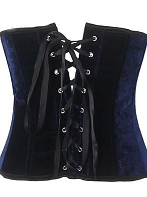 Shaperdiva Women's Velvet Halter Corset Top Waist Training Corsets and Bustiers