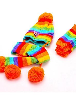 kočičky / pejsky Ponožky / šátky a kloboučky Žlutá / Růžová / Více barev Oblečení pro psy Zima / Jaro/podzim Barevné blokyRoztomilé /
