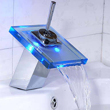 Color Changing Led Bathroom Sink Faucet Waterfall 166895 2017