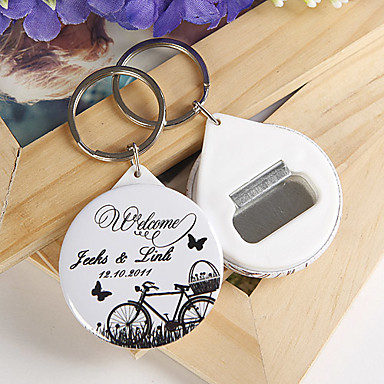 personalized bottle opener key ring bicycle and butterfly set of 12 222257 2016. Black Bedroom Furniture Sets. Home Design Ideas