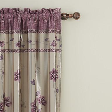 to paneler floral botaniske lilla soverom polyester panelgardiner ...