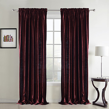 (One Panel Grommet Top) Classic Velvet Solid Lined Curtain
