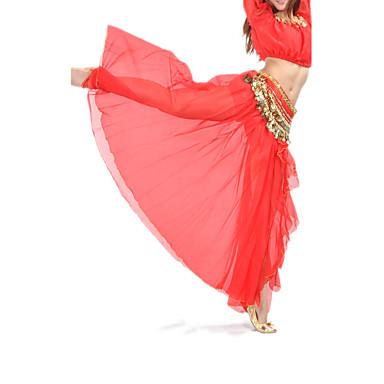 Belly Dance Skirts Women's Training Performance Chiffon Split Front 1 Piece Dropped Skirt