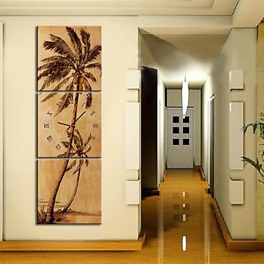 Modern style scenic wall clock in canvas 3pcs k0149 447051 for Immagini orologi da parete moderni