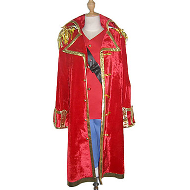 Buy Inspired One Piece Monkey D. Luffy Anime Cosplay Costumes Suits Patchwork Red Long Sleeve Cloak / Vest Shorts Strap