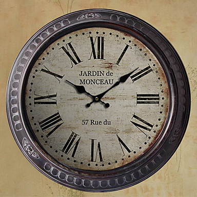 13 5 h country style black metal wall clock 497620 2017 - Country style wall clocks ...