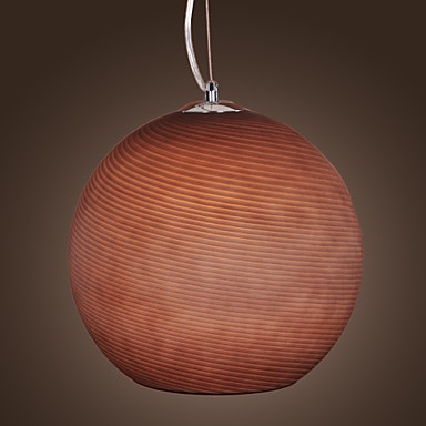1 - Light Pendant Light in Ball Shaped Shade