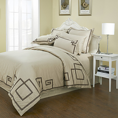 300tc broderie coton dentelle double queen king set 3 pi ces housse de couette de 511853. Black Bedroom Furniture Sets. Home Design Ideas