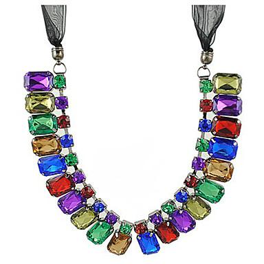 Piedras preciosas como la seda de la mujer ribon collar - Piedras para collares ...