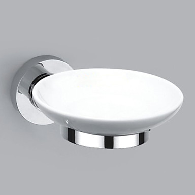 Buy Soap Dish Chrome Wall Mounted 145 x 110 55mm (5.70 4.33 2.16 inch) Brass Contemporary