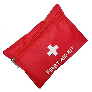 First Aid Kit Hiking Red