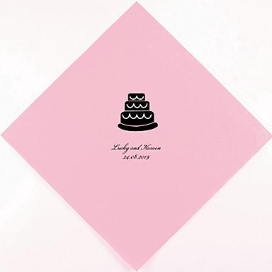 personalized wedding napkins cake more colors set of 100 2015. Black Bedroom Furniture Sets. Home Design Ideas