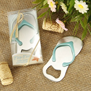 "Chrome Bottle Favor-1Piece/Set Bottle Openers Beach Theme Non-personalised Blue 3 1/2"" x 1 1/4"" (8.9*3.2cm)"