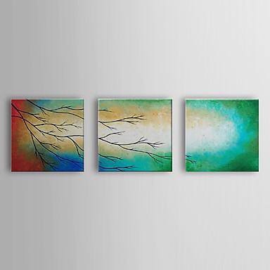 Hand Painted Oil Painting landscape Branch with Stretched Frame Set of 3 1310...