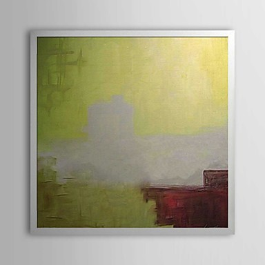 Abstract Wall Painting Framed Oil Painting