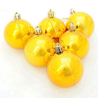 Kjøp gule julekuler på nett kjøp i nettbutikk