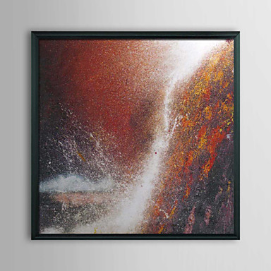Abstract Waterfall Framed Oil Painting
