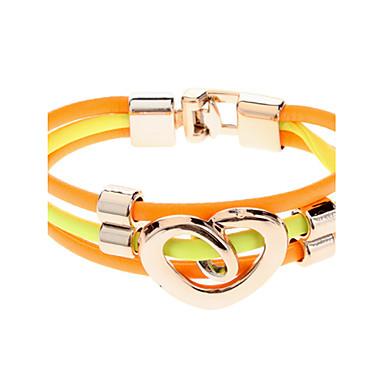 (1 Pc)Fashion Women's Multicolor Leather Wrap Bracelet