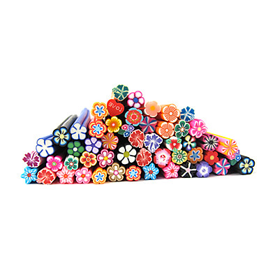 20pcs cute 3d flowers nail art fimo canes rods decoration for 3d nail art fimo canes rods decoration
