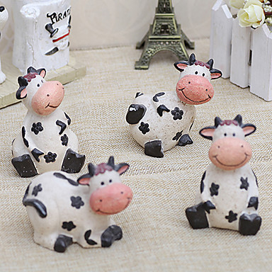 """10""""Country Style Cow Type Polyresin Collectibles(4 PCS)"""