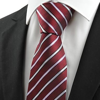 de cravate de luxe ray rouge fonc des hommes pour le mariage occasion cadeau de vacances de. Black Bedroom Furniture Sets. Home Design Ideas