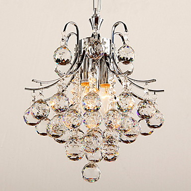 Buy 40 Pendant Light , Modern/Contemporary Chrome Feature Crystal Plastic Living Room Bedroom