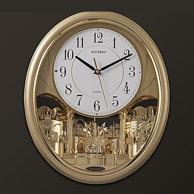 17 H Modern Style Melody Light Controlled Wall Clock With Pendulum 1090654 2017