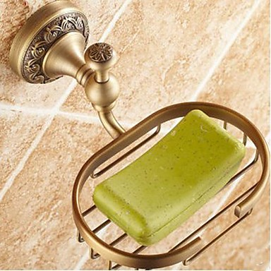 Buy Soap Dish Antique Brass Wall Mounted 150 x 82x 66mm (5.9 3.22x 2.59 inch) Traditional