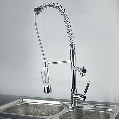 Buy Chrome Finish Kitchen Faucet Color Changing LED Light