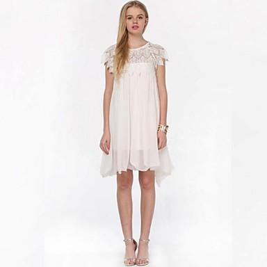 Vestido plissado branco