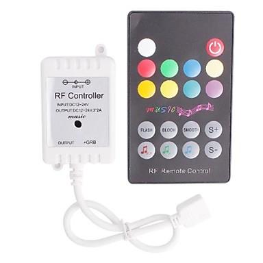 RF Music LED Strip Controller med fjernbetjening til LED lys (72 W 12 ...