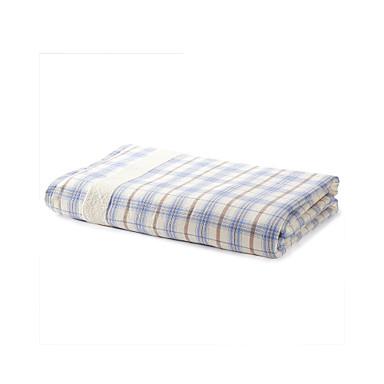 "100% Cotton Check Pattern Dobby Blanket, 180 x 210cm (71"" x 84"")"