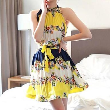 Vestidos estampados amarelos de Isabella Fiorentino