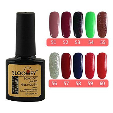 Buy 1SLOOMEY UV Color Gel Polish NO.51-60 (8ml, Mix Color) 10 Set