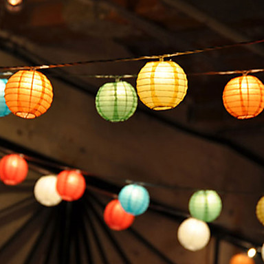 Solar chinese lantern string lights