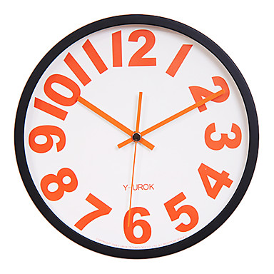"11.8"" Black Frame Red Bold Figure Mute Wall Clock"