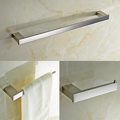 Contemporary quadrate acciaio inox 3 pezzi accessori per il bagno set di asciugamani bar e - Accessori bagno inox ...