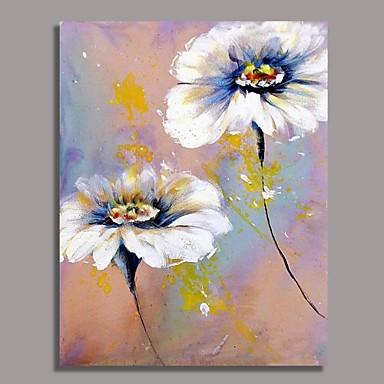 tableau fleur a l huile